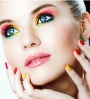 bright summer makeup look